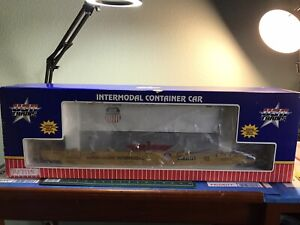 G SCALE USA Trains UP Intermodal Container R17115 #77373 With 2 TRAILERS & Box