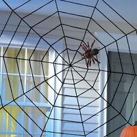 150cm Großes Spinnennetz Spinne Halloween Deko Horror spider Halloweendeko /B