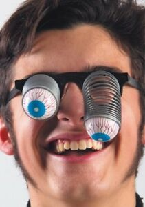 Pop Out Eye Glasses Googly Spring Eyes Novelty Fancy Dress Fun Accessory Boggle