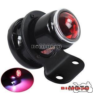 Black Retro Motorcycle LED Tail Brake Light For Harley Bobber Chopper Cafe Racer
