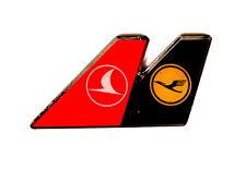 AIRLINE Pin / Pins - LUFTHANSA DOPPELLOGO / TURKISH AIRLINE [2035A]
