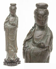 Antique 18th 19th Cent. Chinese Bronze Statue Kwan yin Guanyin Kannon Japanese