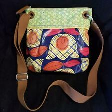 Fossil Womens Pocketbook Multicolored Printed Coated Canvas Crossbody Floral