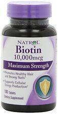Natrol Biotin MAXIMUM Strength 10 000 Mcg 100 Tablets