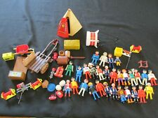 Lot of Playmobil Figures People and accessories, Geobra, Vintage, Men Women