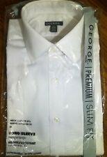 Men's Premium Slim Fit Dress Shirt, new in packaging, 15-15 1/2, 32-33