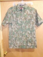 BROWNING SUPER NATURAL SHORT SLEEVE 100% COTTON CAMOUFLAGE SHIRT SZ L 16/16-1/2