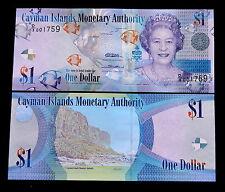 "Kaimaninseln Cayman Islands 1 Dollar 2010 P-38 UNC BANKNOTE Papiergeld "" Queen"""
