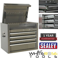 Sealey Top Chest 4 Drawer 675mm Stainless Steel Heavy Duty Tool Storage Box