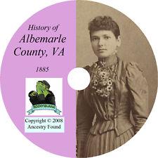 1901 ALBEMARLE County Virginia VA - History & Genealogy - Ancestry - CD DVD