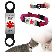 Dog Slide on Collar Tag No Noise Emotional Support Animal ESA Service Pet Tags