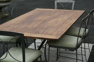 Dining Table With 6 Chairs Reclaimed Solid Pine Wood Winchester Forge