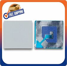 10000 Paper Security Labels 1.5X1.5 Inch Rf 8.2Mhz White Checkpoint Compatib Eas