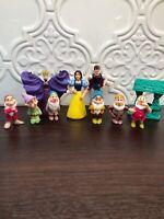 The Seven Dwarfs 1993 MATTEL PVC Figurines Walt Disney 10 Figures Vintage