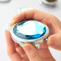 Pocket Purse Handbag Travel Compact Folding Makeup Mirror Girls ladies Gift HGUK