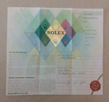 Rolex Warranty Paper Datejust Turnograph 116264  (23.07)