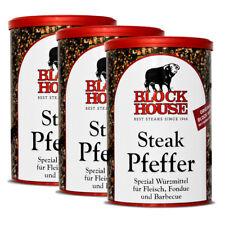 3 Dosen Block House - Steak Pfeffer - 200g im Set Würzen hochwertig Restaurant