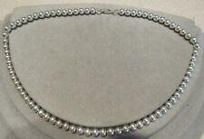 """Sterling Silver Ball Bead Chain Necklace 18"""""""
