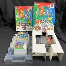 Pokemon Pocket Monsters Stadium with Transfer Pak 64GB Boxed N64 Japan NTSC-J