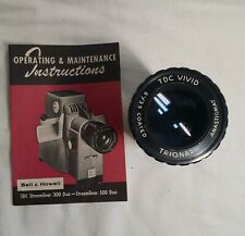 Bell & Howell Streamliner 300 - 500 Duo Lens And Maunual Original Instructions