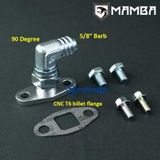 "90Deg 5/8""Barb Turbo Oil Return Flange Kit For Nissan Patrol GU Y61 Hitachi HT18"