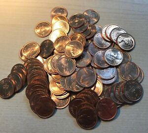 100x Brilliant Uncirculated UK Queen Elizabeth II Half Pence Pieces 1/2p's 1976