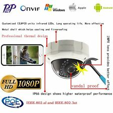 2MP Vandal Proof Full HD PoE Dome Netzwerkkamera INKOVIDEO  IP Kamera Domekamera