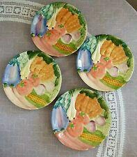 "Fitz and Floyd ""Summer Vegetables"" Salad Plates - Set of 4"
