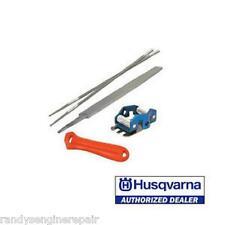 "Husqvarna Chain Sharpening File Kit 505698191 3/8"" file guide depth gauge"