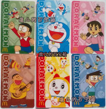 2012 China Mcdonalds gift cards set of  6 - DORAEMON