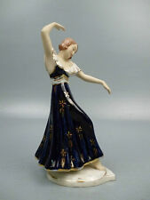 Art Deco Royal Dux Porcelain Lady Dancer Figurine Elly Strobach -Ballerina #1 PC