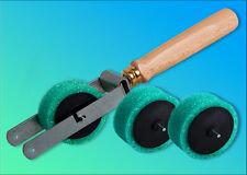 Streifenwalzen Abroller + 2 x Ersatz Malerrolle Strukturwalze Malerwalze Walze
