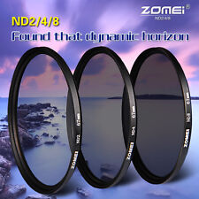 ZOMEI 67MM Neutral Density ND2+ND4+ND8 Filter Kit for Canon Nikon DSLR Camera DV