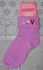 NWT 6-12 Months Gymboree SNOW BLOSSOM Orchid LOVE Socks