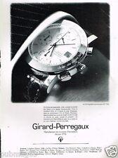 Publicité advertising 1989 La Montre Girard Perregaux chronographe GP 7000