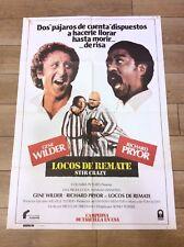 STIR CRAZY Vintage PRISON Movie Poster GENE WILDER RICHARD PRYOR CRAIG T NELSON