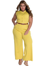 New Yellow  Jumpsuit/ Romper LARGE
