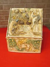 Vtg Harmony Kingdom Picturesque Noah's Hideaway Box w Tile Cover made China
