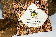 Authentic Raw African Black Soap with Plantain Extract and Shea Butter