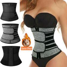 Waist Trainer Cincher Trimmer Sweat Belt Slim Body Shaper Sauna Shapewear GYM US