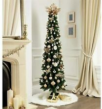 Artificial 6ft Green Pencil Christmas Xmas Decoration Tree With 380 Tips 1.8m