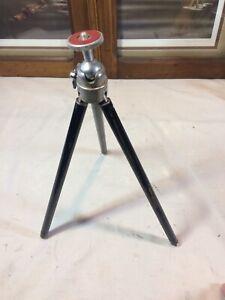Vintage Bilora Telescoping Metal Tripod w/ Mini-Ball Head • Made in Germany