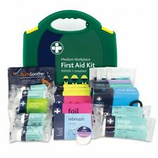 BS8599-1:2019 Medium Work Place First Aid Kit Carry Case Plasters Dressings Pins