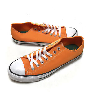 Converse CTAS OX 164413F Orange White Sneakers Shoes Mens Size 10 Womens 12