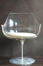 Champagne chairs de Estelle et Erwin Laverne CREATEUR plexiglas