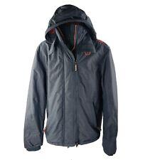Superdry Original Windcheater Japan Jacket L Gray Full-Zip Hooded Windbreaker