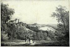 SIEBENEICHEN (MEISSEN) - Schloß Siebeneichen - Lithografie 1830