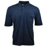 Mens Polo Shirt S to 3 XL BISLEY Chest Pocket Work Casual Active Golf Tee NEW