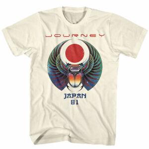 Journey Japan Captured Album Tour 1981 Men's T Shirt Scarab Rock Band Concert