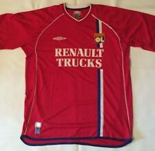 Vtg Olympique Lyonnais 2002/2003 Umbro Red Away Lyon Soccer Jersey Mens Size Xl